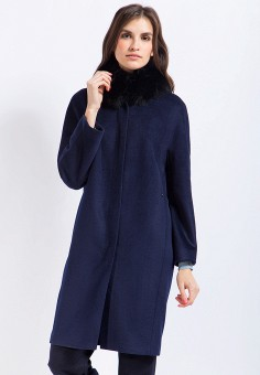Пальто, Finn Flare, цвет: синий. Артикул: MP002XW1AIZL. Одежда