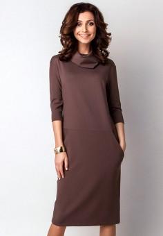 Платье, Olga Skazkina, цвет: коричневый. Артикул: MP002XW1AKHQ. Одежда / Платья и сарафаны