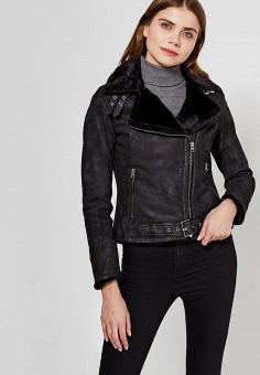 Куртка кожаная, Blue Monkey, цвет: черный. Артикул: MP002XW1AMY2. Одежда / Верхняя одежда