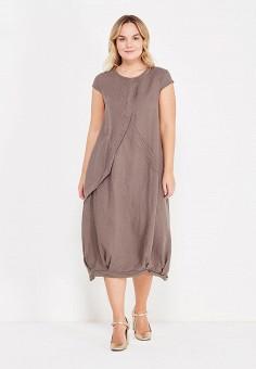 Платье, Kayros, цвет: коричневый. Артикул: MP002XW1ANL6. Одежда / Платья и сарафаны