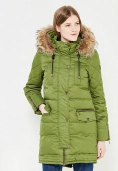 Пуховик, IST'OK, цвет: зеленый. Артикул: MP002XW1AOML. Одежда / Верхняя одежда