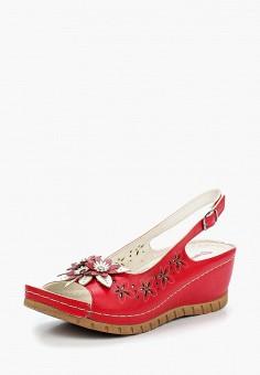 Босоножки, T.Taccardi, цвет: красный. Артикул: MP002XW1C8H1. Обувь / Босоножки