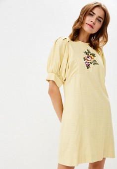 Платье, Galina Vasilyeva, цвет: желтый. Артикул: MP002XW1CRNC. Одежда