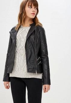 Куртка кожаная, La Reine Blanche, цвет: черный. Артикул: MP002XW1CROA.
