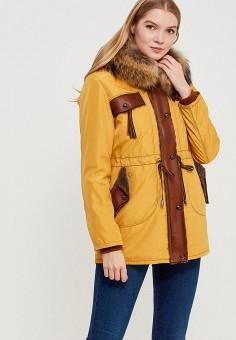 Парка, Grafinia, цвет: желтый. Артикул: MP002XW1F7TN. Одежда / Верхняя одежда / Пуховики и зимние куртки