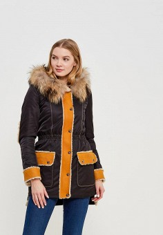 Парка, Grafinia, цвет: черный. Артикул: MP002XW1F7TP. Одежда / Верхняя одежда / Пуховики и зимние куртки