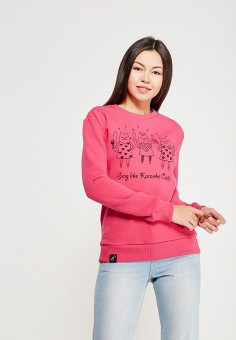 Свитшот, Barmariska, цвет: розовый. Артикул: MP002XW1F7YU. Одежда / Толстовки и свитшоты