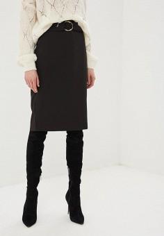 Юбка Zarina, цвет черный, размер 52RU, код