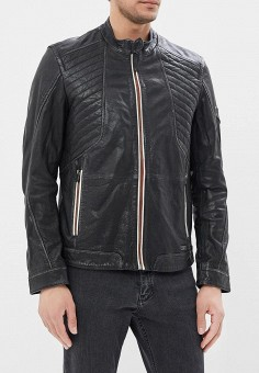 Куртка кожаная, Mustang, цвет: черный. Артикул: MU454EMABHZ5. Одежда / Верхняя одежда / Кожаные куртки