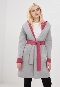 Пальто, Naoko, цвет: серый. Артикул: NA029EWAJAT6. Одежда / Верхняя одежда / Пальто
