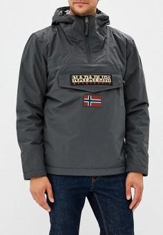 Куртка утепленная, Napapijri, цвет: серый. Артикул: NA154EMCIBS6. Одежда / Верхняя одежда / Демисезонные куртки