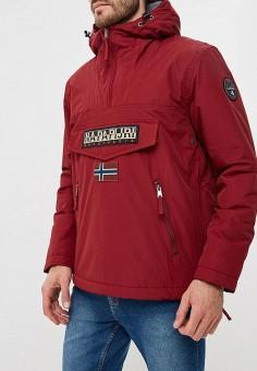 Куртка утепленная, Napapijri, цвет: бордовый. Артикул: NA154EMCIBW6. Одежда / Верхняя одежда / Демисезонные куртки
