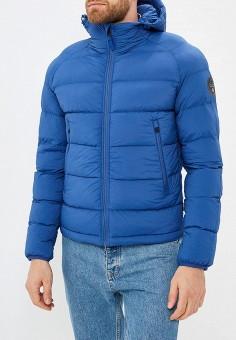 Куртка утепленная, Napapijri, цвет: синий. Артикул: NA154EMCIBX7. Одежда / Верхняя одежда / Демисезонные куртки