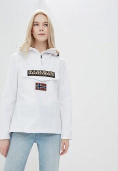 Ветровка, Napapijri, цвет: белый. Артикул: NA154EWAHVQ6. Одежда / Верхняя одежда / Легкие куртки и ветровки