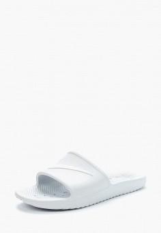 Сланцы, Nike, цвет: белый. Артикул: NI464AWBBLX9.