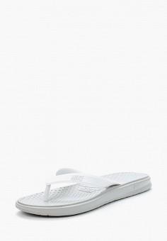 Сланцы, Nike, цвет: белый. Артикул: NI464AWUGF99.