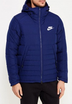 Пуховик, Nike, цвет: синий. Артикул: NI464EMUGL96. Одежда / Верхняя одежда / Пуховики и зимние куртки