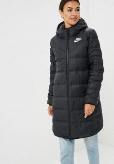 Пуховик, Nike, цвет: черный. Артикул: NI464EWBWKU6. Одежда / Верхняя одежда / Зимние куртки