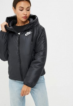 Пуховик, Nike, цвет: черный. Артикул: NI464EWBWKU9. Одежда / Верхняя одежда / Зимние куртки