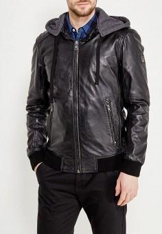 Куртка кожаная, Oakwood, цвет: черный. Артикул: OA002EMAFPO4. Одежда / Верхняя одежда / Кожаные куртки