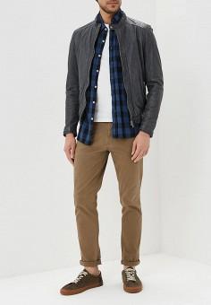Куртка кожаная, Oakwood, цвет: серый. Артикул: OA002EMAFPO8. Одежда / Верхняя одежда / Кожаные куртки