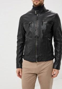 Куртка кожаная, Oakwood, цвет: черный. Артикул: OA002EMBSVB8. Одежда / Верхняя одежда / Кожаные куртки