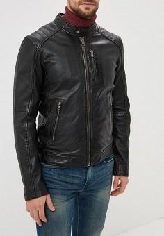 Куртка кожаная, Oakwood, цвет: черный. Артикул: OA002EMBSVB9. Одежда / Верхняя одежда / Кожаные куртки