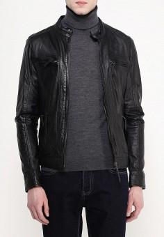 Куртка кожаная, Oakwood, цвет: черный. Артикул: OA002EMHQE04. Одежда / Верхняя одежда / Кожаные куртки