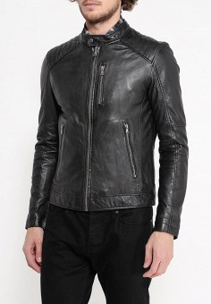 Куртка кожаная, Oakwood, цвет: черный. Артикул: OA002EMPPL28. Одежда / Верхняя одежда / Кожаные куртки