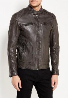 Куртка кожаная, Oakwood, цвет: серый. Артикул: OA002EMWFF94. Одежда / Верхняя одежда / Кожаные куртки