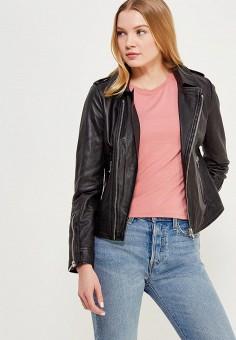 Куртка кожаная, Oakwood, цвет: черный. Артикул: OA002EWAFZA8.