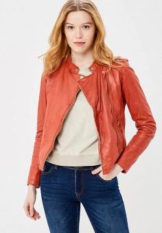 Куртка кожаная, Oakwood, цвет: красный. Артикул: OA002EWAFZB4.