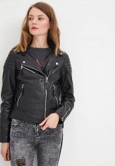 Куртка кожаная, Oakwood, цвет: черный. Артикул: OA002EWAFZC1. Одежда / Верхняя одежда / Косухи