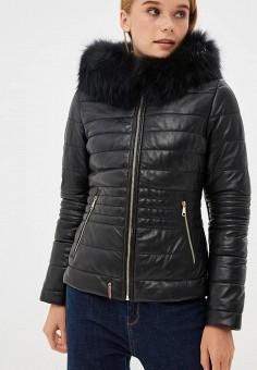 Куртка кожаная, Oakwood, цвет: черный. Артикул: OA002EWBSVD2.