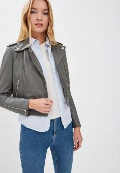 Куртка кожаная, Oakwood, цвет: серый. Артикул: OA002EWBSVE4.