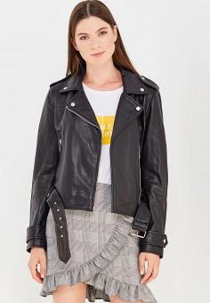 Куртка кожаная, Oakwood, цвет: черный. Артикул: OA002EWWFF75.