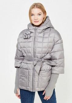Куртка утепленная, Odri Mio, цвет: серый. Артикул: OD006EWYSO46. Одежда / Верхняя одежда
