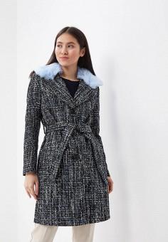 Пальто, On Parle de Vous, цвет: синий. Артикул: ON017EWAPMN0. Одежда / Верхняя одежда / Пальто