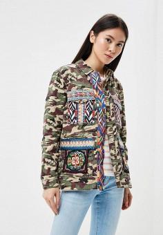 Куртка джинсовая, Only, цвет: хаки. Артикул: ON380EWAFTL5. Одежда / Верхняя одежда