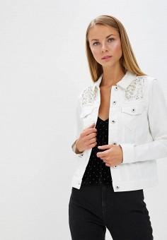 Куртка джинсовая, Only, цвет: белый. Артикул: ON380EWAFTN2. Одежда / Верхняя одежда