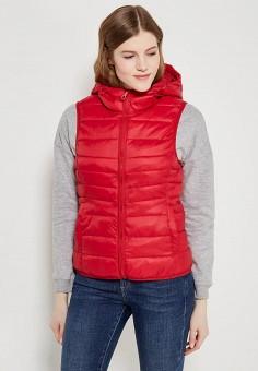 Жилет утепленный, Only, цвет: красный. Артикул: ON380EWAFVE3. Одежда / Верхняя одежда