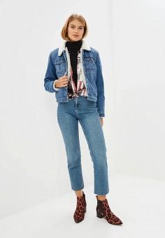 Куртка джинсовая, Only, цвет: голубой. Артикул: ON380EWCAZB6. Одежда / Верхняя одежда / Джинсовые куртки
