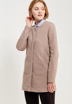 Пальто, Only, цвет: бежевый. Артикул: ON380EWZKU62. Одежда / Верхняя одежда / Пальто