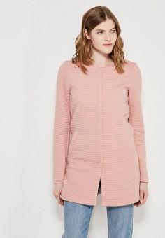Пальто, Only, цвет: розовый. Артикул: ON380EWZKU63. Одежда / Верхняя одежда / Пальто