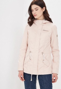 Парка, Only, цвет: розовый. Артикул: ON380EWZKU65. Одежда / Верхняя одежда