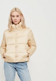 Куртка утепленная, Only, цвет: золотой. Артикул: ON380EWZKU72. Одежда / Верхняя одежда