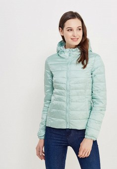 Куртка утепленная, Only, цвет: зеленый. Артикул: ON380EWZKU90. Одежда / Верхняя одежда