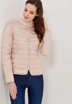 Куртка утепленная, Only, цвет: розовый. Артикул: ON380EWZKU94. Одежда / Верхняя одежда