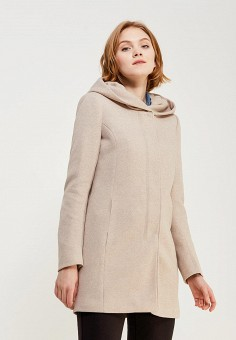 Пальто, Only, цвет: бежевый. Артикул: ON380EWZKV64. Одежда / Верхняя одежда / Пальто