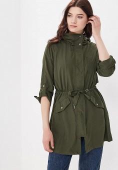 Парка, Only, цвет: зеленый. Артикул: ON380EWZKV75. Одежда / Верхняя одежда / Парки